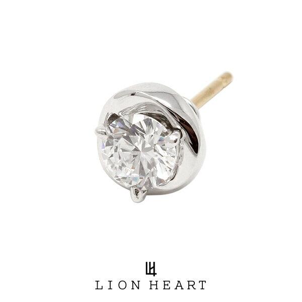 LION HEART Petite Modern スタッドプチピアス【メビウス2】 クリア 01EA0311CL ライオンハート プチモダン シルバー ピアス 1点売り 片耳用 メンズ [LH]