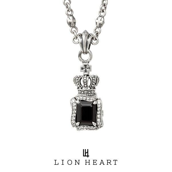LION HEART BASIC KINGDOM キングダムストーンネックレス 01NE0021BK ライオンハート シルバーネックレス [LH]