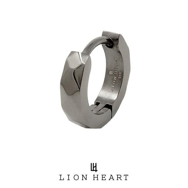 ライオンハート LH-1 Monotone フープピアス ブラック 03EA0015BK LION HEART ステンレスピアス 1点売り 片耳用 メンズ [LH]