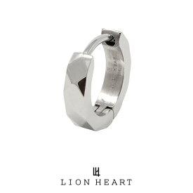 ライオンハート LH-1 カッティングフープピアス/サージカルステンレス(シルバー) 03EA0015SV LION HEART 1点売り 片耳用 リング シンプル 誕生日 プレゼント メンズ