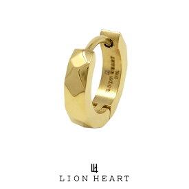ライオンハート LH-1 カッティングフープピアス/サージカルステンレス(ゴールド) 03EA0015YG LION HEART 1点売り 片耳用 シンプル 誕生日 プレゼント メンズ