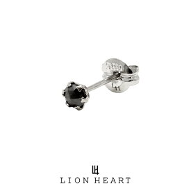 ライオンハート PROGRESSO プラチナ ブラックダイヤモンドピアス/Sサイズ 04E12PS/S LION HEART ピアス 1点売り 片耳用 1粒 シンプル 黒 おしゃれ キャッチ (LH) 誕生日 プレゼント ギフト メンズ ブランド 送料無料