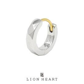 ライオンハート for Gift カッティングフープピアス/シルバー925 (シルバー) 01EA0991SV LION HEART 18Kポスト シルバーピアス 1点売り 片耳用 [LH] メンズ ブランド ギフト(誕生日 プレゼント) 送料無料