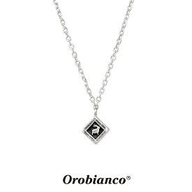 オロビアンコ ネックレス OREN023BK (シルバー×ブラック) シルバー925 チェーン40+5cm Orobianco Necklace ブランド メンズ レディース ギフト(誕生日 プレゼント) 送料無料