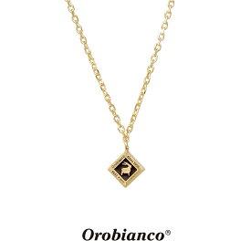 オロビアンコ ネックレス OREN023BKG (ゴールド×ブラック) シルバー925 チェーン40+5cm Orobianco Necklace ブランド メンズ レディース ギフト(誕生日 プレゼント) 送料無料