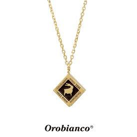 オロビアンコ ネックレス OREN024BKG (ゴールド×ブラック) シルバー925 チェーン40+5cm Orobianco Necklace ブランド メンズ レディース ギフト(誕生日 プレゼント) 送料無料