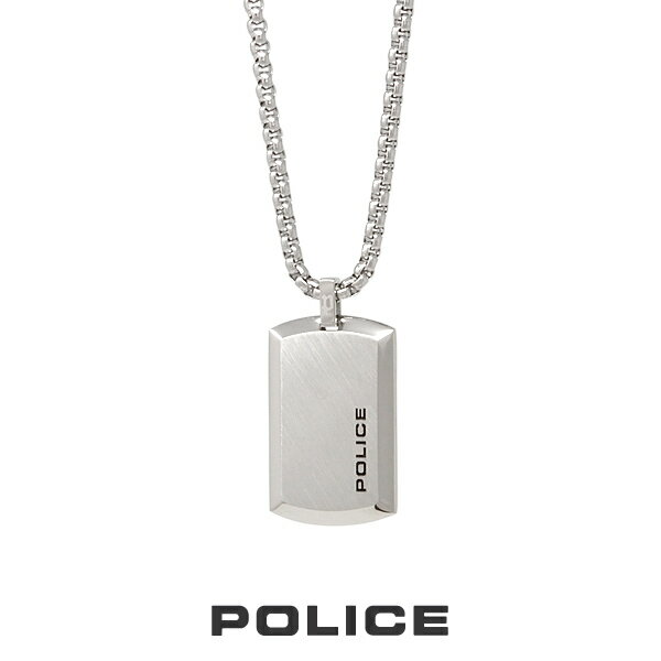 """POLICE """"PURITY"""" Small ネックレス 25988PSS01 ポリス ドッグタグ プレート ステンレス [PS]"""