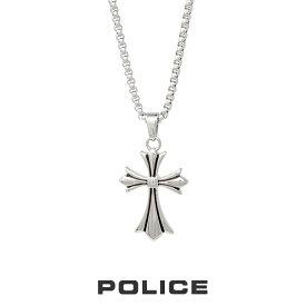 """ポリス """"GRACE"""" スモールサイズ デザインクロス 25990PSS01 POLICE ステンレスネックレス ネックレス メンズ"""