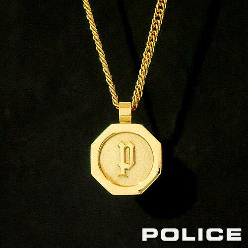 POLICE TOKEN ステンレスネックレス ゴールド 26155PSG ポリス ポリスネックレス メンズ