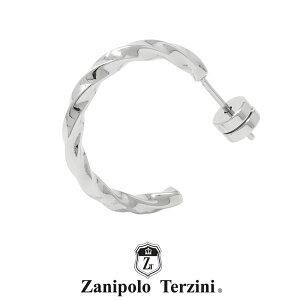 ザニポロタルツィーニ ツイスト フープピアス ステンレス ZTE3629SUS (直径2cm) Zanipolo Terzini メンズ サージカルステンレス 金属アレルギー対応 1点売り 片耳用 [ZT] [ネコポス対応商品]