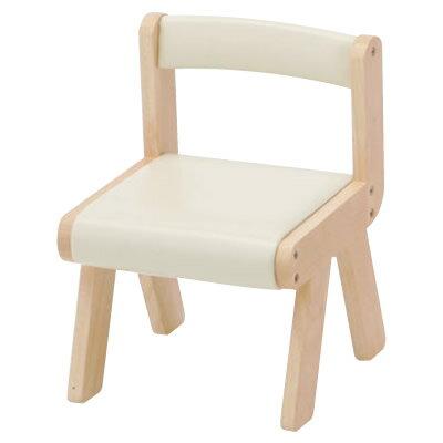 キッズチェア 木製 naKIDSキッズPVCチェアー アイボリー キッズチェア 木製 子供 椅子 イス いす 子供用チェアー キッズチェアー ロー