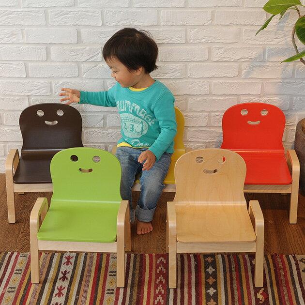 キッズチェア 木製 にっこり チェア キッズ チェア 子供 チェアー 木 ナチュラル かわいい おしゃれ 子供用 木製 【あす楽対応】