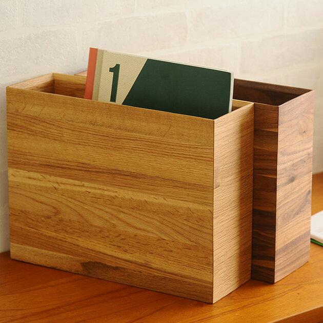 PLAM プラム DEN(デン) アーカイブボックス オーク 【ラッピング対応】 ファイルボックス 木製 A4 ファイルケース おしゃれ 縦 横 ボックスファイル 書類ボックス 書類収納