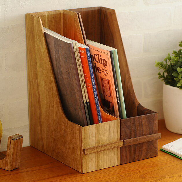 Latree ラトレ DEN(デン) ファイリングスタンド オーク 【ラッピング対応】 ファイルスタンド 木製 A4 ファイルボックス おしゃれ 縦 ボックスファイル 書類ボックス 書類収納 書類整理