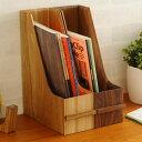 Latree ラトレ DEN(デン) ファイリングスタンド オーク 【ラッピング対応】 ファイルスタンド 木製 A4 ファイルボック…