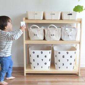 おもちゃ 収納 おもちゃ箱 こどもと暮らしオリジナル Milk お片付けラック ナチュラル cp273 おもちゃ 収納 おもちゃ箱 トイラック お片付け 子供部屋 棚 木製 ラック 3段 ヒュッゲ 【あす楽対応】