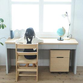 こどもと暮らしオリジナル キッズ家具3点セット 学習机 ツインデスク 学習椅子 勉強机 学習イス シンプル チェスト セット 木製 学習いす 【あす楽対応】