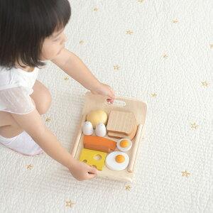 PLAN TOYS プラントイ 朝食セット おもちゃ 木製 ままごと ごっこ遊び 朝食 ごはん セット 知育 木のおもちゃ