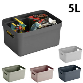Sunware 収納ボックス 5Lサイズ Sigma Box 収納ケース おしゃれ プラスチック キッチン 小物 幅18 奥行25 高さ12 ギフト プレゼント