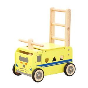 手押し車 赤ちゃん 木のおもちゃ 乗り物 乗用玩具 I'm TOY アイムトイ ウォーカー&ライド 923型 ドクターイエロー エデュテ 手押し車 赤ちゃん 木のおもちゃ 乗り物 乗用玩具 足けり 木製 動物