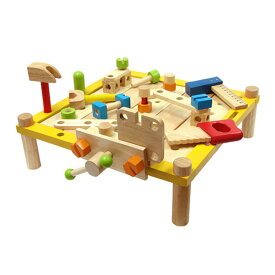 I'm TOY アイムトイ カーペンターテーブル エデュテ おうち時間 大工 おもちゃ 大工さん 知育玩具 3歳 4歳 木のおもちゃ ごっこ遊び 男の子 お誕生日プレゼント プレゼント