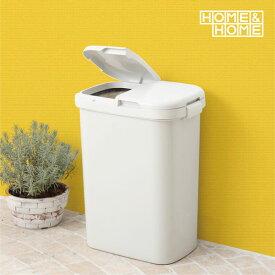H&H 分類ゴミ容器 50W グレー 分別 ごみ箱 ゴミ箱 屋外 外用 フタ付き ダストボックス ポリ袋止め付 2分別 ワイド 50L 大型 大容量 灰色 リス