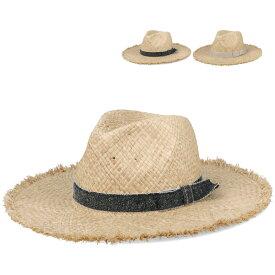 【つば広ハット】Tsubabosa Hat ラフィア ブリム 麦わら ハット 帽子 ストローハット ウォーキング 散歩 バサバサ UV対策 ナチュラル UV 日除け 全2色 サイズ調整 女性用 レディース lca-u07470
