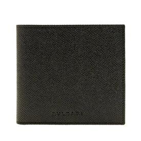 ブルガリ 財布 BVLGARI メンズ二つ折り財布 ブラック グレインレザー 20253 アウトレット店買付