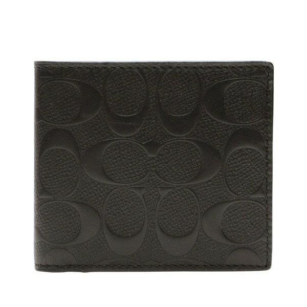 コーチ COACH 折り財布 f75363blk | 二つ折り 小銭入れ ウォレット サイフ さいふ 財布 カード 収納 多い メンズ かっこいい おしゃれ オシャレ シンプル コンパクト スリム 使いやすい ブランド レザー 本革 プレゼント アウトレット