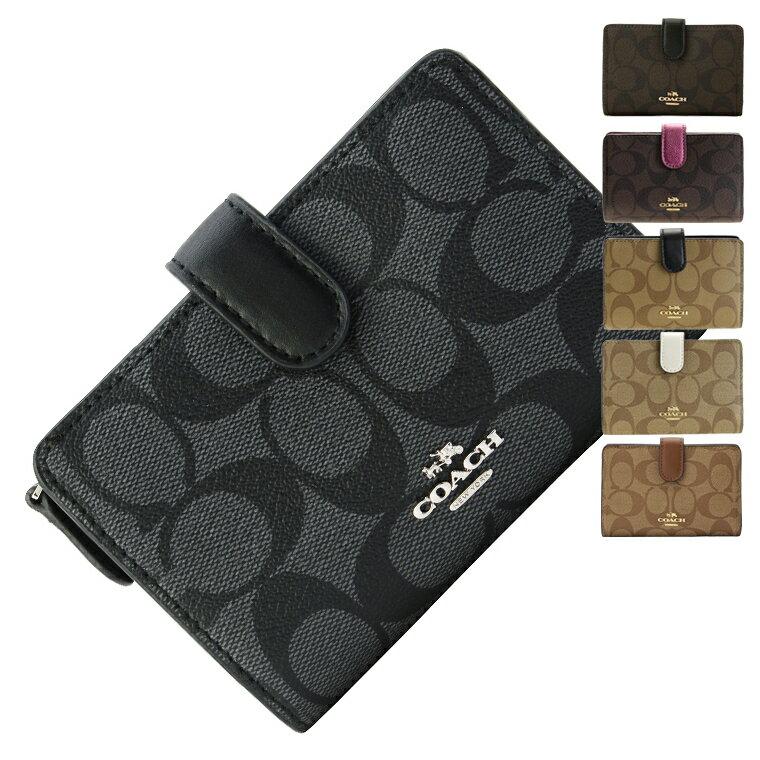 コーチ COACH 二つ折り財布 f23553 | L字ファスナー 小銭入れ パスケース ウォレット サイフ 財布 カード入れ 多い レディース かわいい 可愛い おしゃれ コンパクト 軽い ブランド 本革 アウトレット 令和 記念
