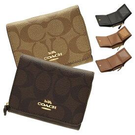 コーチ COACH 三つ折り財布 シグネチャー アウトレット f41302   さいふ サイフ ウォレット 財布 コンパクト レディース かわいい 可愛い 使いやすい おしゃれ オシャレ ブランド レザー PVC