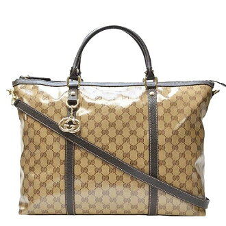 Gucci bags GUCCI 2way tote bag beige x Brown PVCx leather 339550fzifg9903