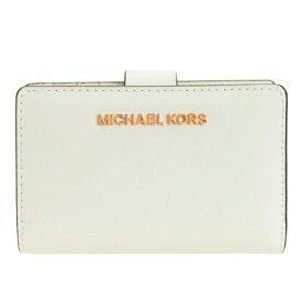 マイケル マイケルコース MICHAEL MICHAEL KORS 二つ折り財布 L字 アウトレット 35t9rtvf2l-opwhi   L字ファスナー さいふ サイフ ウォレット 財布 ブランド財布 カード入れ 多い レディース かわいい 使いやすい オシャレ おしゃれ ブランド