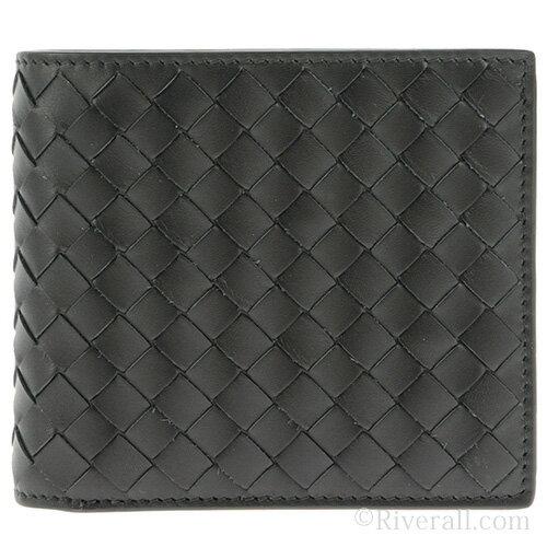 ボッテガヴェネタ 財布 BOTTEGA VENETA メンズ 二つ折り財布 ブラック レザー(牛革) 193642v46511000