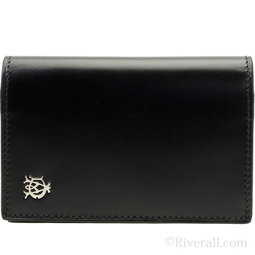 【クリアランスセール】ダンヒル dunhill カードケース/名刺入れ WESSEX BUSINESS CARD CASE ブラック レザー l2r347a