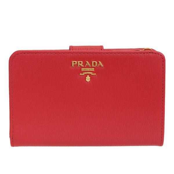 プラダ PRADA 二つ折り財布 アウトレット 1ml225vitmov-lacc | ウォレット サイフ 財布 カード入れ 多い レディース かわいい 可愛い オシャレ おしゃれ ブランド 本革 春 令和 記念