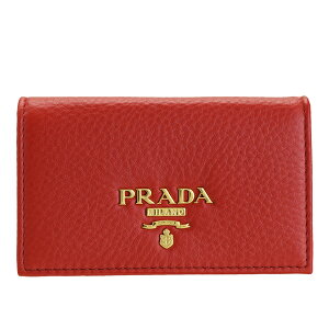【全品5%OFFクーポン配布中】プラダ PRADA カードケース 名刺入れ アウトレット 1mc122vigr-ross-zz | カード入れ ケース シンプル レディース オシャレ おしゃれ ブランド レザー ビジネス item715 母