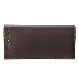 トミーヒルフィガー 財布 ブランド財布 TOMMY HILFIGER メンズ 二つ折り長財布 ブラウン レザー 31tl19x006-200