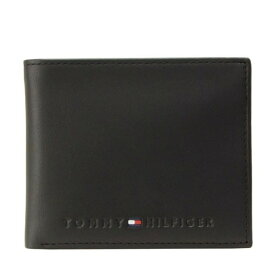 トミーヒルフィガー 財布 ブランド財布 TOMMY HILFIGER メンズ 二つ折り財布 ブラック レザー 31tl25x005-001