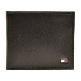トミーヒルフィガー 財布 ブランド財布 TOMMY HILFIGER 財布 ブランド財布 メンズ 二つ折り財布 ブラック レザー 31TL25X003(旧品番:96-4511bk)