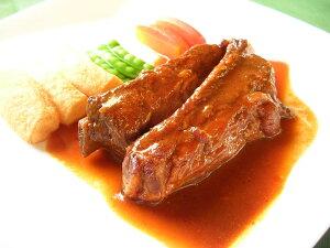 【送料無料!】骨付きだから美味しくてやわらかい♪ありそうでなかった!『スペアリブのシチュー』(骨付きの豚ばら肉)大好評のフランスパンが2個付いた2人前セット!! (佐川急便で