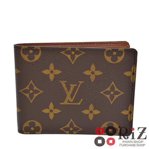 【中古】 LOUIS VUITTON (ルイヴィトン) ミュルティプル 財布 二つ折り財布(小銭入有) M60895 A:良好品