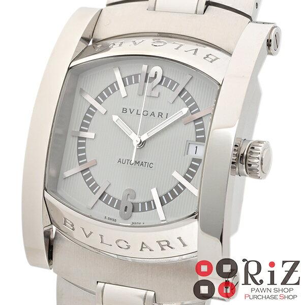 【中古】 BVLGARI (ブルガリ) アショーマ 日本限定 時計 自動巻き/メンズ ASHOMA Silver AA48C6SSD/JP/AA4 A:良好品