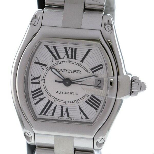 【美品】【スーパーSALE】【中古】 Cartier (カルティエ) ロードスター LM 時計 自動巻き/メンズ Roadster Silver/シルバー W62025V3 used:A