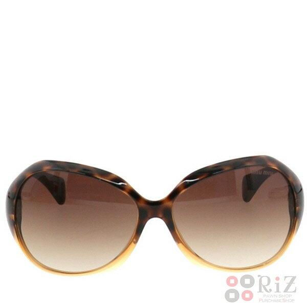 【即日発送】【中古】 MIUMIU (ミュウミュウ) サングラス 服飾 眼鏡/サングラス Brown/ブラウン