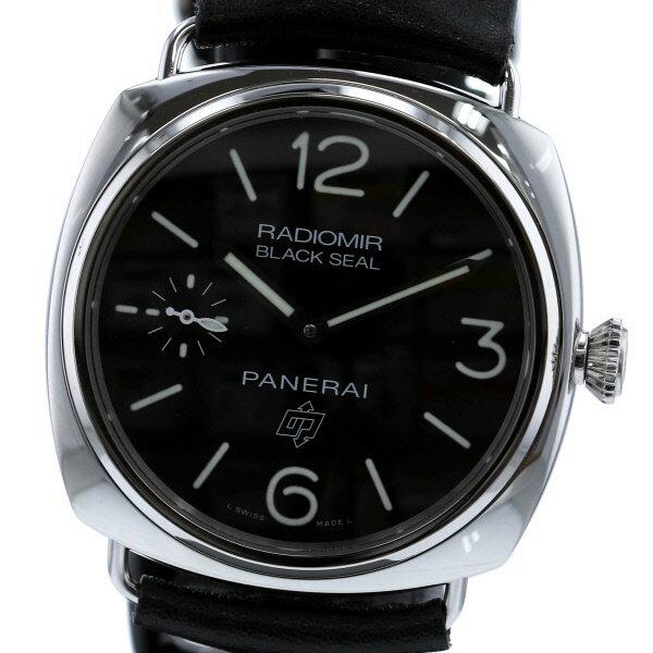 【中古】 PANERAI (パネライ) ラジオミール ブラックシール ロゴ 45 時計 手巻き/メンズ Black PAM00380 used:A