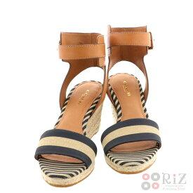 0a9bafb31cdf 【中古】 COACH (コーチ) ウェッジソール サンダル 靴 靴/レディース Sandal Brown