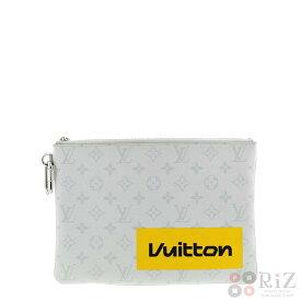 【中古】LOUIS VUITTON (ルイヴィトン) ジップド・ポーチGM バッグ セカンドバッグ/ポーチ/クラッチ Monogram White M68310 used:B