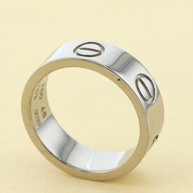 【中古】 Cartier (カルティエ) ラブリング 750WG ブランドジュエリー 指輪 B4084700 used:A