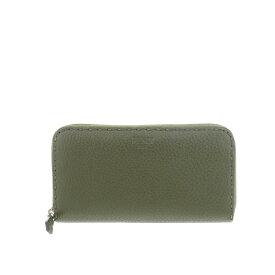 【SALE】【中古】 FENDI フェンディ セレリア ラウンドファスナー長財布 財布 長財布(小銭入有) Long Wallet Green/グリーン カーキ 8M0299 used:B